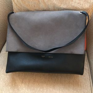 Céline All Soft Leather & Suede Shoulder Bag